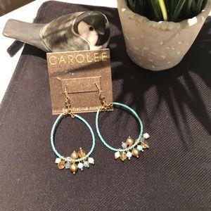 Semi precious accented  earrings